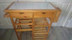 Kitchen storage unit with work top. Waist hieght great condition. £40