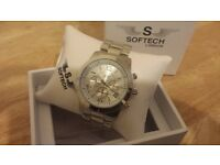 Men's Stainless Steel Analogue Watch from SOFTECH (brand new)