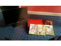 Cheap Slim LED TV 20inch tv with red xbox 360 includes pad and 3 games fifa 16,17 and gta iv