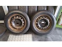 175 65 14 2 x tyres General Altimax + 2 x Steel Wheel Rim for Citroen,Peugeot