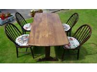 Ercol table & 4 chairs