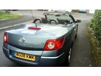 Convertable Renault Megane Blue fun in the sun and cheap to run!