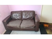 Free Brown Sofa 2 Seater - Collection only from NG5
