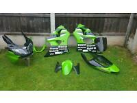 Full Set of Fairings For A Kawasaki ZX6R
