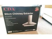 CDA Cooker hood/chimney extractor 60cm brand new in box