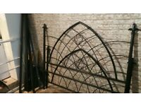 King Size Black Benson 4 beds cast iron bed base full complete base excellent condition can deliver