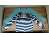 mini boden girls age 5-6yrs pointelle tops x2