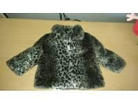 F&f faux fur coat