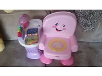 Fisher-Price Laugh & Learn Musical Activity Chair - Pink