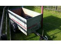 Small galvanised trailer