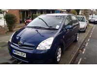 Here i have an toyota verso for sale.