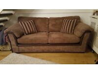 brown cord sofa (3 seater) & snuggle chair(2 seater) from DFS