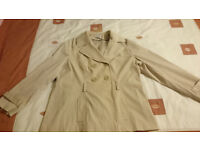 Cream Short Coat Size 22 by George
