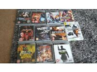 Large selction of ps3 games