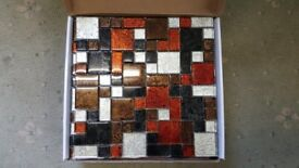 MOSAIC-TILES-30-x-30-cm-Glass-Tile-Bronze-Terracotta-Silver-Kitchen-Bathroom-Wall