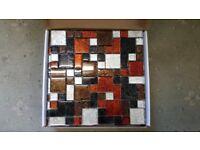 MOSAIC-TILES-30-x-30-cm-Glass-Tile-Bronze-Terracotta-Silver-Kitchen-Bathroom-Wall