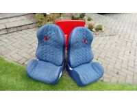 Two car seats, boosters with back