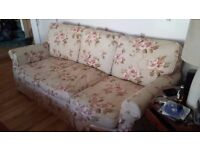 2 X 3 Seater Floral Sofas