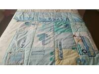 Nautical cot bedding and bumper