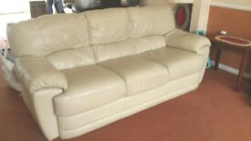 3 Seater Leather Sofa for sale.
