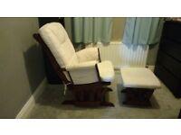 Storkcraft Glider Chair with matching Ottoman
