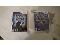 Rockband Nintendo wii games for sale