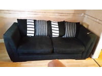 Black Sofa - 3 Seater for sale - good condition