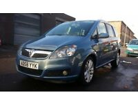 VAUXHALL ZAFIRA CDTI 1.9 DIESEL WITH 1 YEAR MOT AND LOW MILEAGE