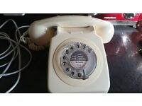 1980's vintage rotary dial telephone