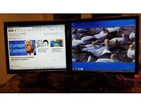 "Two 17"" lcd computer monitors, Good condition and full working order."