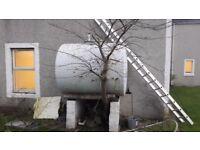 Large metal oil tank