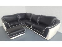 black corner sofa with pearl trim available to take away ex high street model