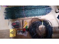 Hotline Gemini 120 electric fence unit and netting