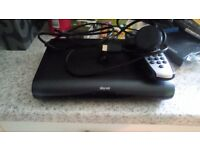 Sky + HD Box New Slim Black model with remote power cable and HDMI cable Used