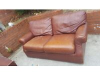 Free brown leather sofa