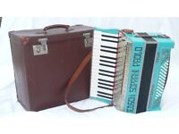 Jedson Soprani Paolo accordion with box in excellent condition (2 registers, 48 bass)