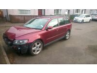 Spares or repair Volvo V 50 front damage, no leaks running condition selling as it is