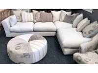 DFS Darwin Fabric corner sofa set