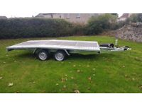 NEW Car Transporter Trailer Recovery Flat bed 2700kg GVW 4.0 m long