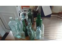 collection of old bottles x 14