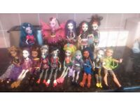 Variety of Monster High Dolls For Sale