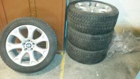 Genuine BMW X5 Alloy Wheels & Bridgestone Winter Tyres