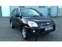 KIA SPORTAGE 2.0 CRDI XE.09/59 REG .ONLY ,52000 MILES.ONE LADY OWNER.SERVICE HISTORY.