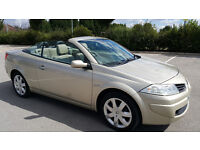 Renault Megane Convertible in perfect condition, 2 lady owners, 11 MONTHS MOT, FULL HISTORY