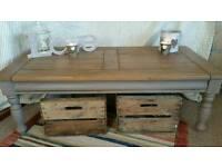 Rustic, farmhouse coffee table