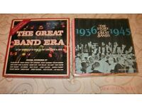 "THE GREAT BAND ERA-""37 TOP BANDS )10 X VINYL LP'S"