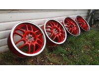 JDM WORK RSB Alloy wheels 4x100 Honda Civic Integra Toyota MR2 Vauxhall E30
