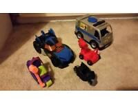 Imaginext Batman vehicles/figures/accessories