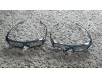2 Pairs of Genuine Panasonic 3D Glasses TY-EP3D20 for Passive 3D Viera TV