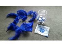 Wedding table decor blue